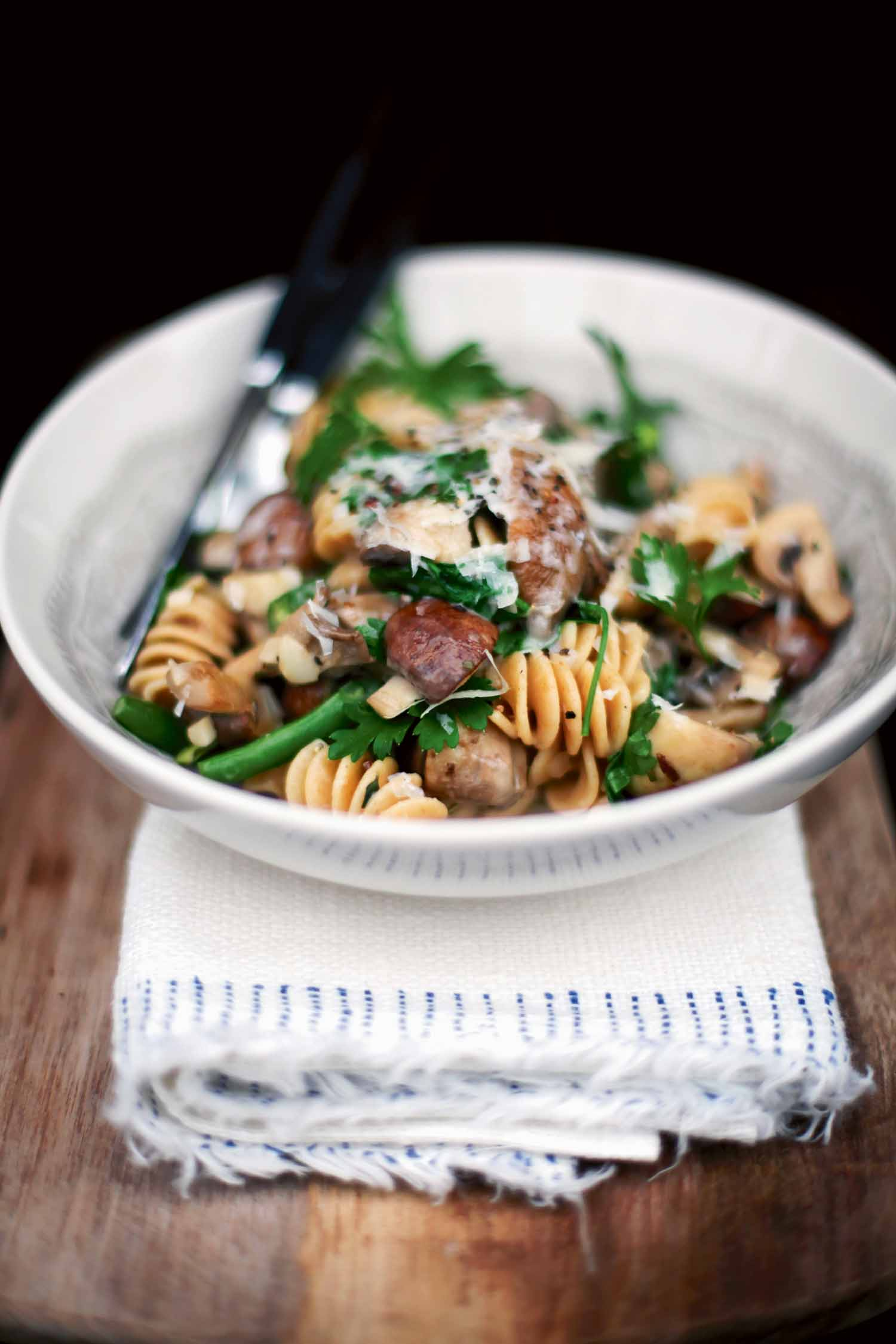 Pasta with Mushrooms and Fresh Rosemary
