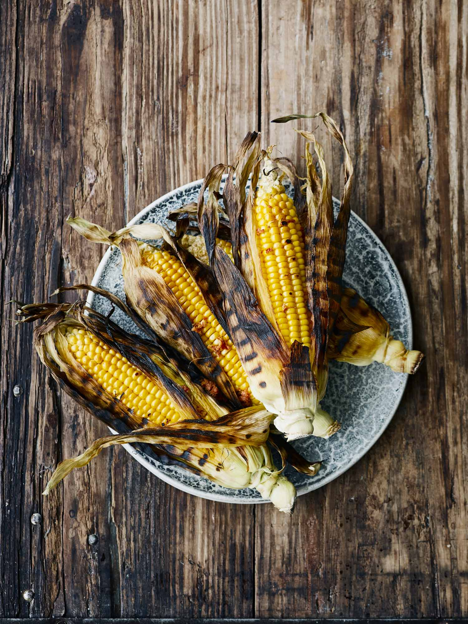 Corn on the Cob Grilled with Nduja and Marjoram