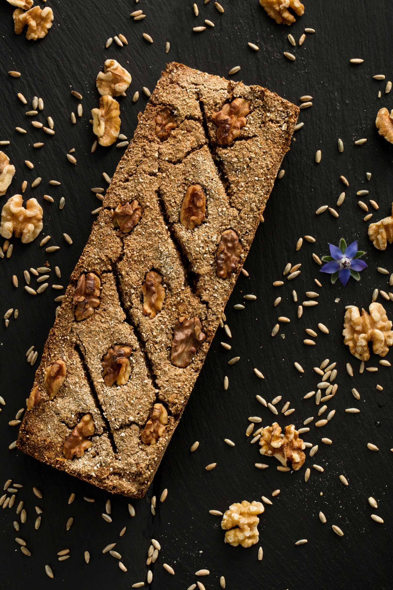 Walnut Dark Rye Bread