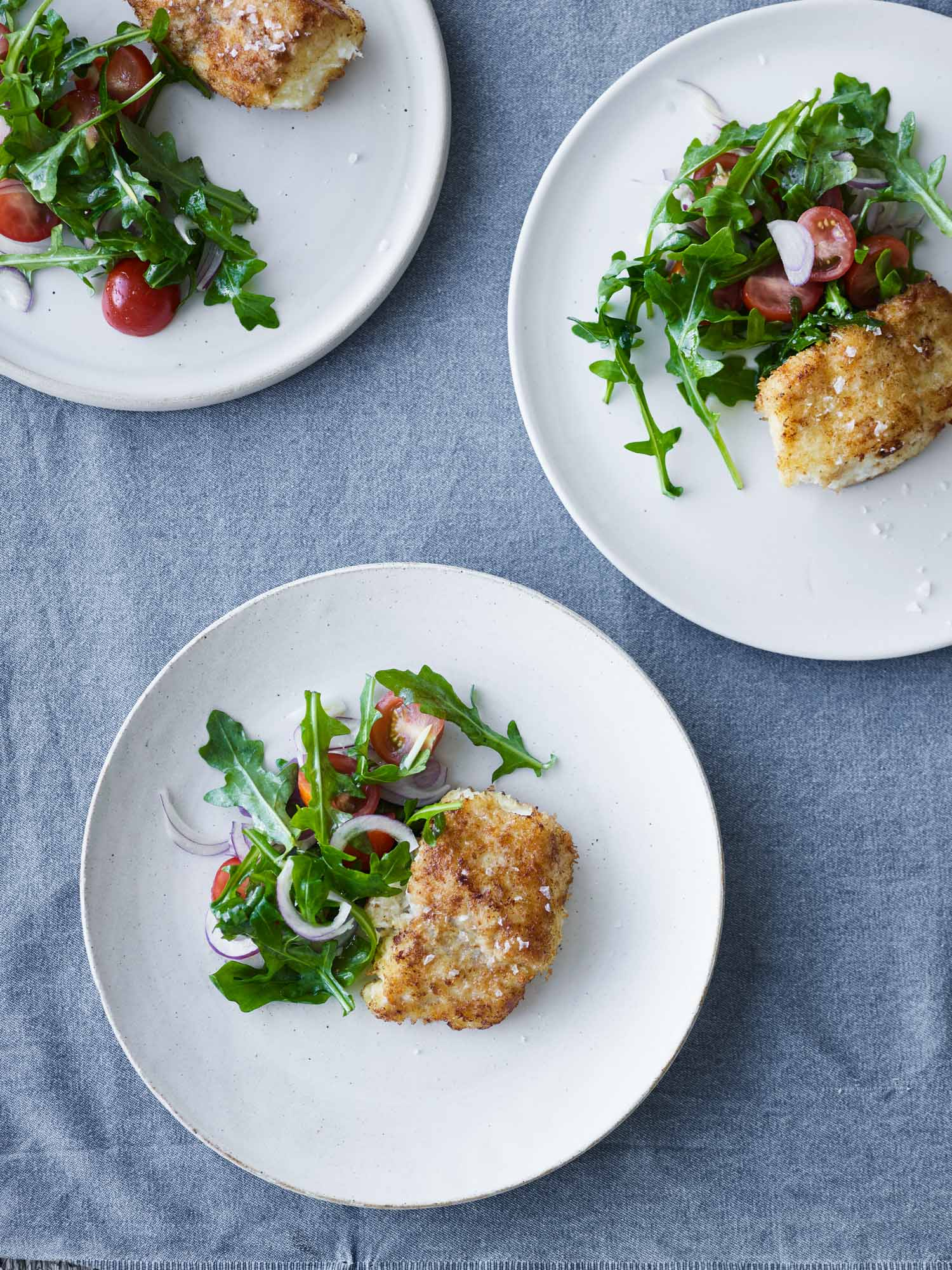 Halibut Milanese with Lemon