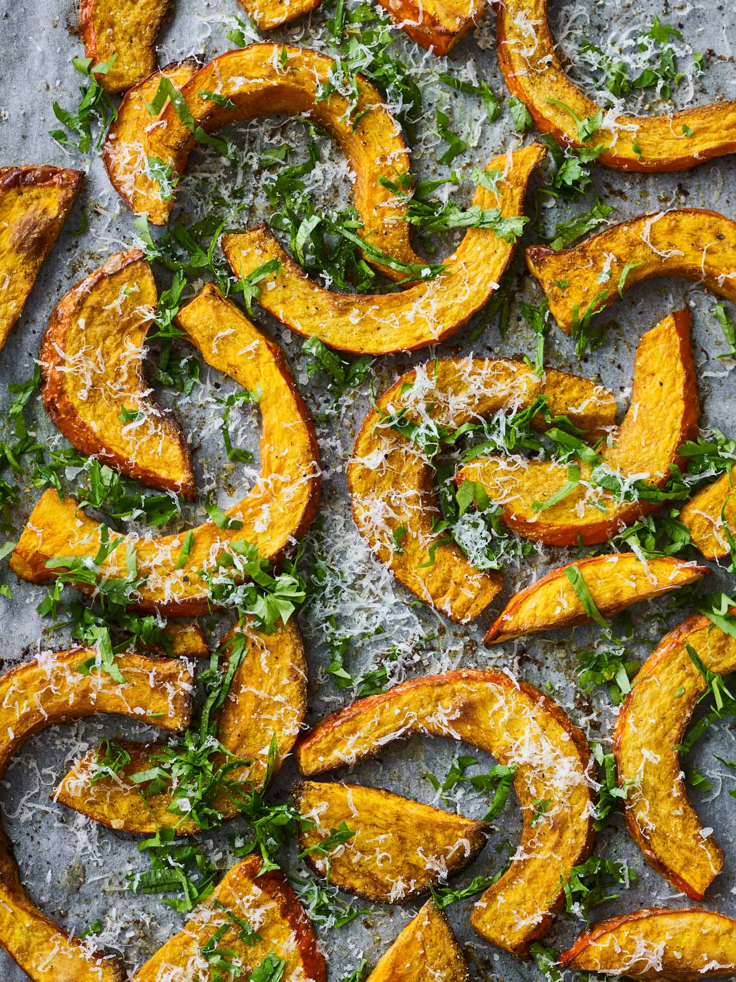 Roasted Acorn Squash with Curry and Parmesan